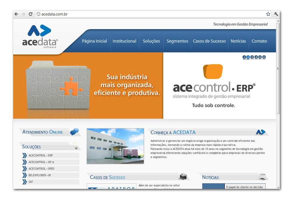 ACEDATA: Novos banners de produtos no site