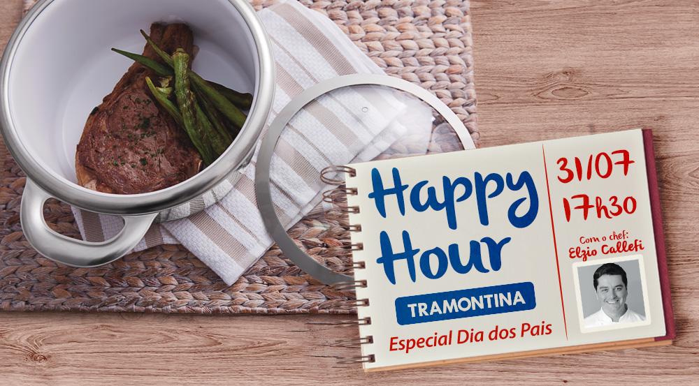 Ação Promocional: Happy Hour Tramontina & Aquarela Casa